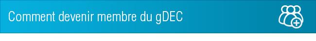 Comment devenir membre du gDEC